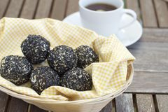 Onde-onde. Indonesian snack, sesame seed ball Stock Photo