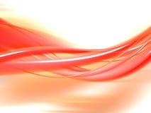 Onde orange Photographie stock libre de droits