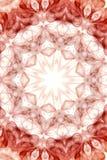 onde rouge abstraite de fumée Photos libres de droits