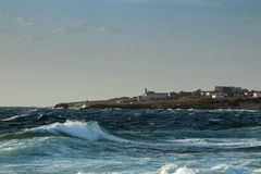 Onde selvagge del mare Immagini Stock Libere da Diritti