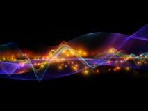 Onde sinusoïdale abstraite Photo libre de droits