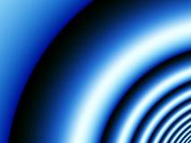 onde sonore bleue de fond Photographie stock libre de droits