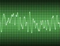 Onde sonore de sinus électronique Photo libre de droits