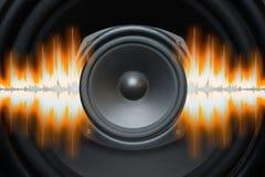 Onde sonore dell'altoparlante Immagine Stock Libera da Diritti