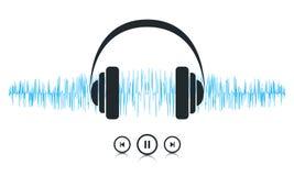 Onde sonore di musica illustrazione di stock