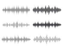 Onde sonore di vettore Equalizzatore di Digital di musica Immagini Stock