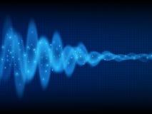 Onde sonore Fond de musique Flux d'énergie Conception audio de vague Fond abstrait de technologie Images libres de droits
