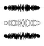 Onde sonore impostate Audio tecnologia dell'equalizzatore, impulso Fotografia Stock