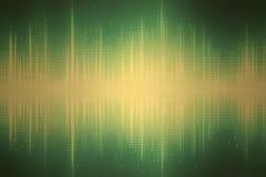 Onde sonore verdi royalty illustrazione gratis