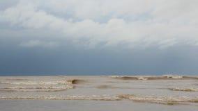 Onde sulla spiaggia stock footage