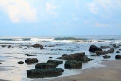 Onde sulla spiaggia Fotografia Stock