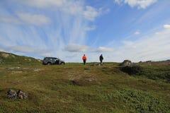 Onde a terra termina, Kola Peninsula imagens de stock