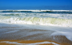 Onde verdi della calce alla spiaggia Nuova Zelanda di Scotts Immagine Stock Libera da Diritti