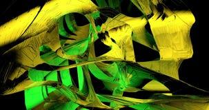 Onde verdi e gialle nel movimento video d archivio