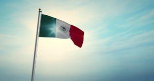 ondeando la bandera mexicana en la celebración nacional de la Ciudad de México - 4.030 fps libre illustration
