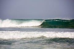 Ondeggi formando il tubo alla conduttura messicana Puerto Escondido di Zicatela Fotografia Stock Libera da Diritti