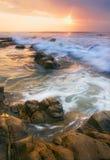 Ondeggi per accogliere il Sun Fotografie Stock