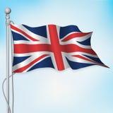 Ondeggiamento britannico della bandiera di Britannici Immagini Stock