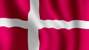 Ondeggiamento danese della bandiera royalty illustrazione gratis