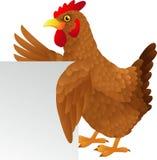Ondeggiamento del fumetto della gallina Fotografia Stock
