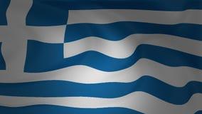 Ondeggiamento del primo piano della bandiera della Grecia stock footage