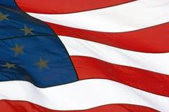 Ondeggiamento della bandiera americana Fotografie Stock Libere da Diritti