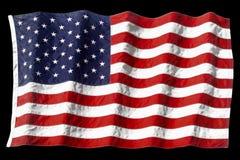 Ondeggiamento della bandiera americana Fotografie Stock