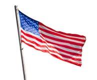 Ondeggiamento della bandiera americana Immagine Stock Libera da Diritti