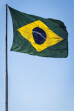 Ondeggiamento della bandiera del Brasile Immagine Stock Libera da Diritti