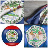 Ondeggiamento della bandiera di Belize Fotografia Stock