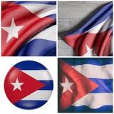 Ondeggiamento della bandiera di Cuba Immagine Stock Libera da Diritti