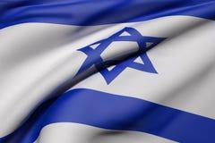 Ondeggiamento di Israel Flag Fotografia Stock Libera da Diritti
