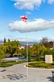 Ondeggiamento georgiano della bandiera Fotografie Stock Libere da Diritti