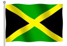 Ondeggiamento giamaicano della bandierina Fotografie Stock