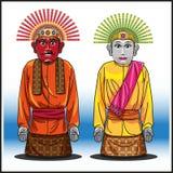 Ondel-ondel, um par mascote de jakarta Imagem de Stock