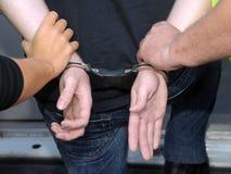 Onder arrestatie Royalty-vrije Stock Foto's