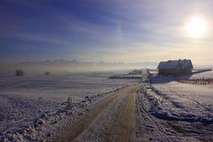 Onder bergen in Polen stock fotografie