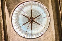 Onder dakmening van luchtventilator op het dak van fabriek in abst Stock Fotografie