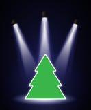Onder de aandacht gebrachte Kerstboom vector illustratie