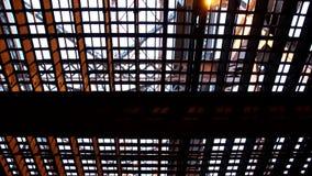 Onder de Lucht de Liftbrug van Duluth stock videobeelden