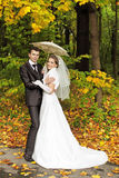 Onder de paraplu Stock Fotografie