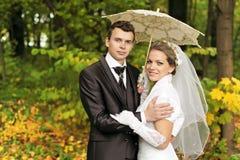 Onder de paraplu Stock Afbeelding