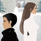 Onder de sneeuw Stock Foto's