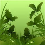 Onder gras vector illustratie