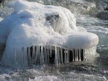 Onder het ijs Royalty-vrije Stock Foto's