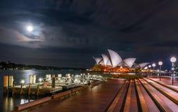 Onder het maanlicht Royalty-vrije Stock Foto