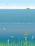 Onder het Overzees stock illustratie