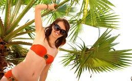 Onder palm Royalty-vrije Stock Afbeelding