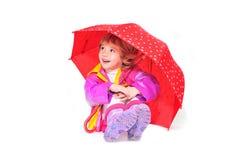 Onder paraplu Royalty-vrije Stock Afbeelding