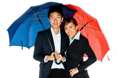 Onder Paraplu's Stock Fotografie